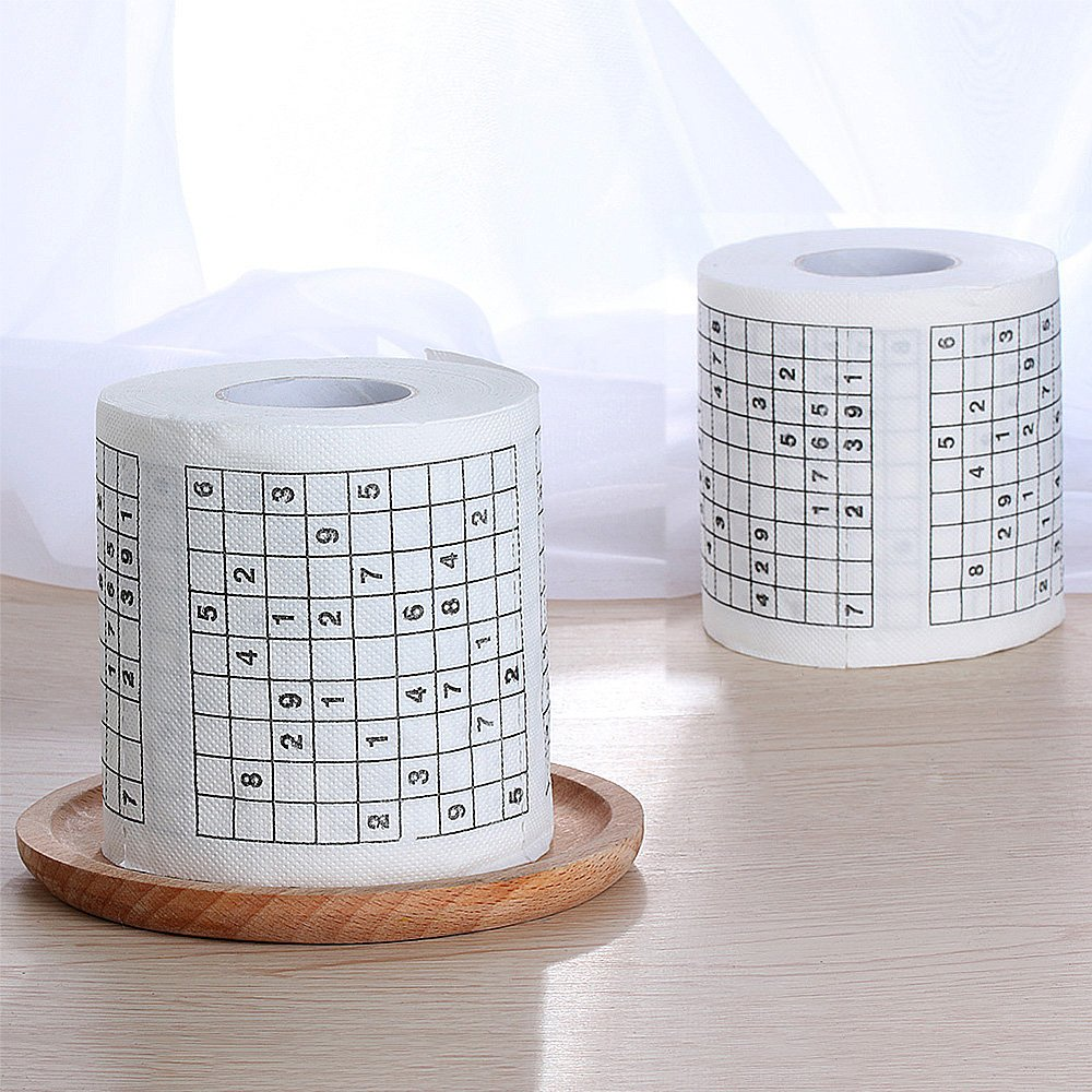 Sudoku Toilet Paper Creative Toilet Roll Creative Roll Paper Restaurants Napkin Fun Game Funny Practical Tools for Household Articles Life (White) Yakuro
