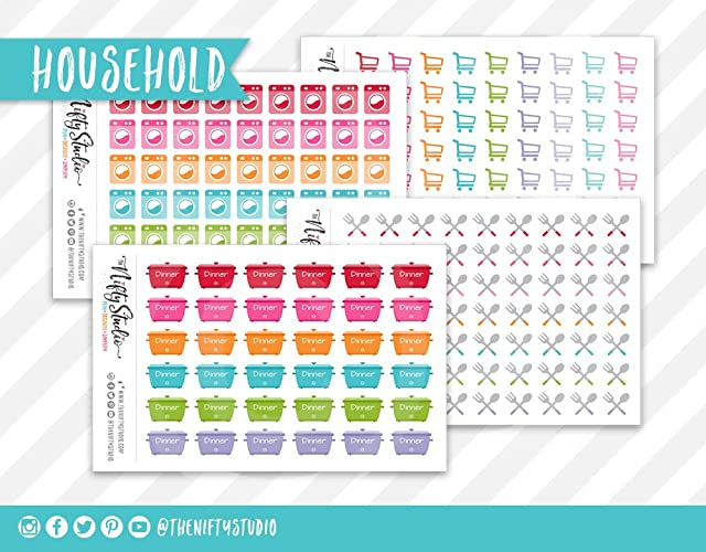Amazon.com: Planner Stickers Bundle Kit Household | Planner ...