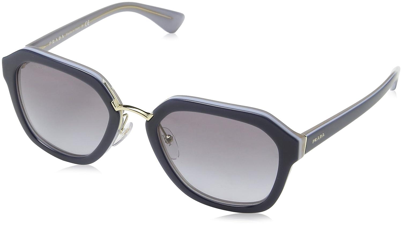 Prada Damen 0PR25RS 2AU4M1 55 Sonnenbrille, Braun (Havana/Green)