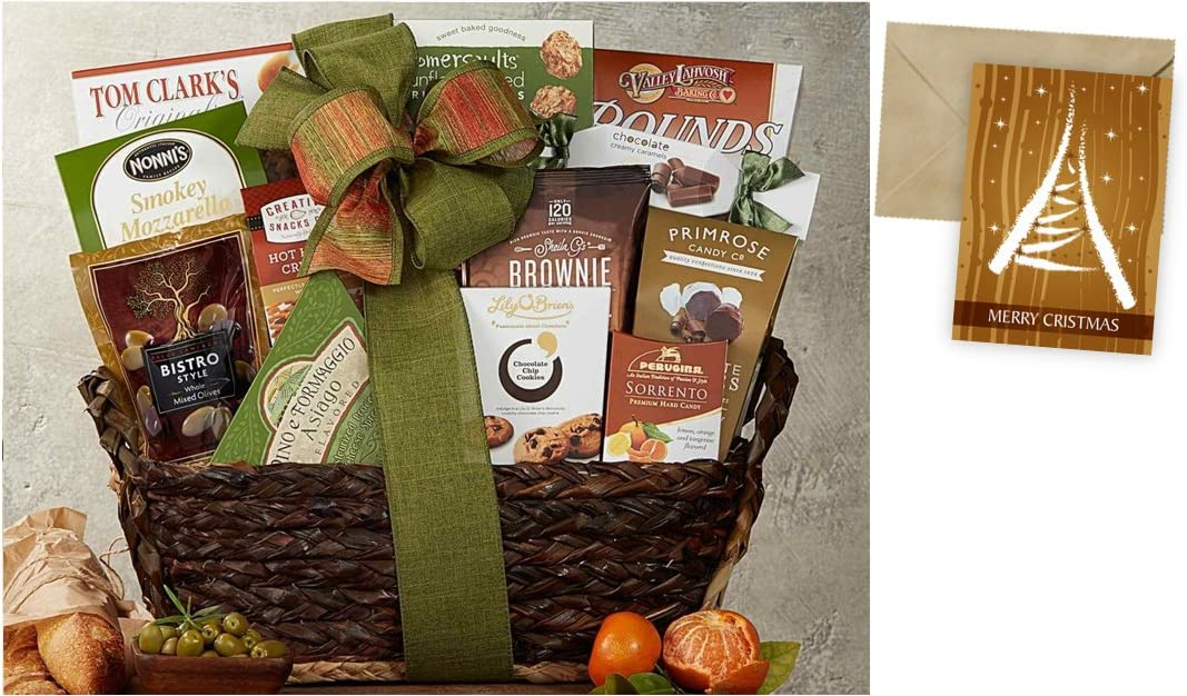 CD3238087 Gourmet Choice Gift Basket for Christmas and personalized card mailed seperately