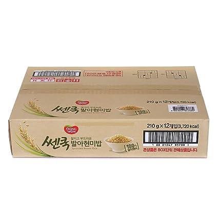 DONGWON Arroz cocido, aroma marrón esmerilado, microondas ...