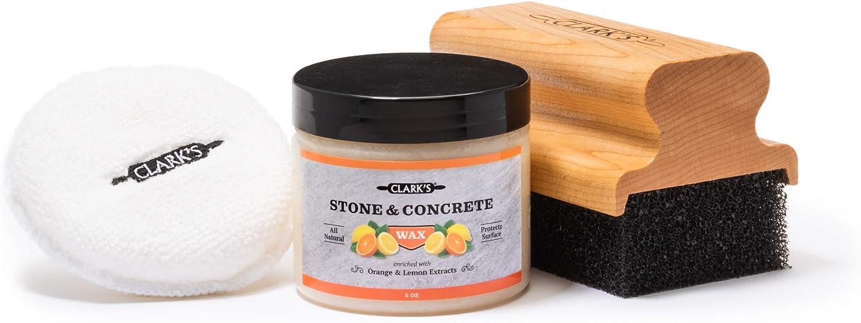 CLARK'S Soapstone Slate and Concrete Finishing Kit | Soapstone Wax | Large Applicator | Buffing Pad | Soap Stone, Slat, and Concrete Countertop Wax