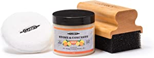 CLARK'S Soapstone Slate and Concrete Finishing Kit | Soapstone Wax | Large Applicator | Buffing Pad | Soap Stone, Slat, and Concrete Countertop Wax
