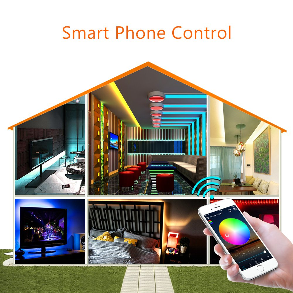 Nexlux WiFi Wireless LED Smart Controller Alexa Google Home IFTTT Compatible,Working with Android,iOS System, GRB,BGR, RGB LED Strip Lights DC 12V 24V(No Power Adapter Included) by Nexlux (Image #2)
