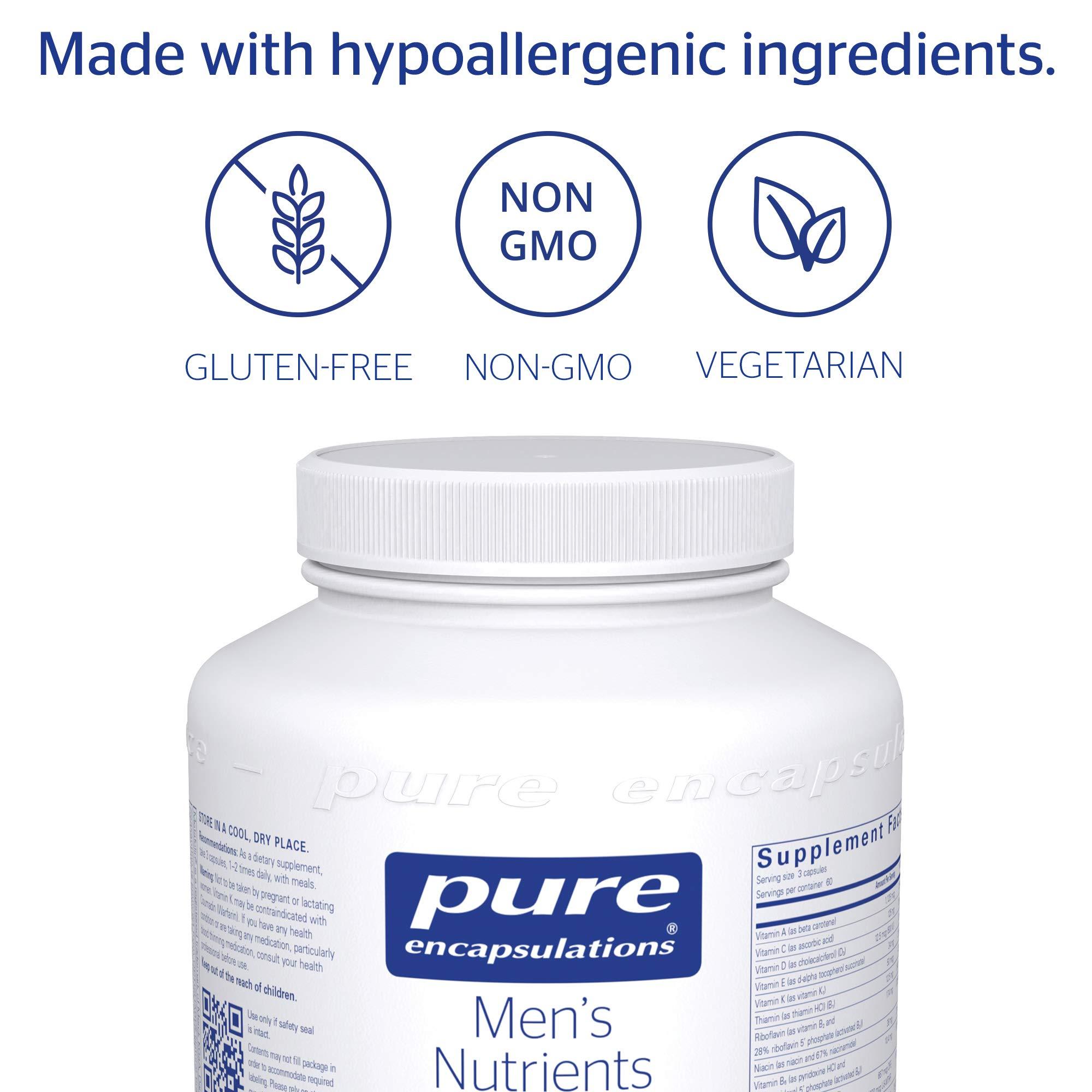 Pure Encapsulations - Men's Nutrients - Hypoallergenic Multivitamin/Mineral Complex for Men Over 40-180 Capsules by Pure Encapsulations (Image #4)
