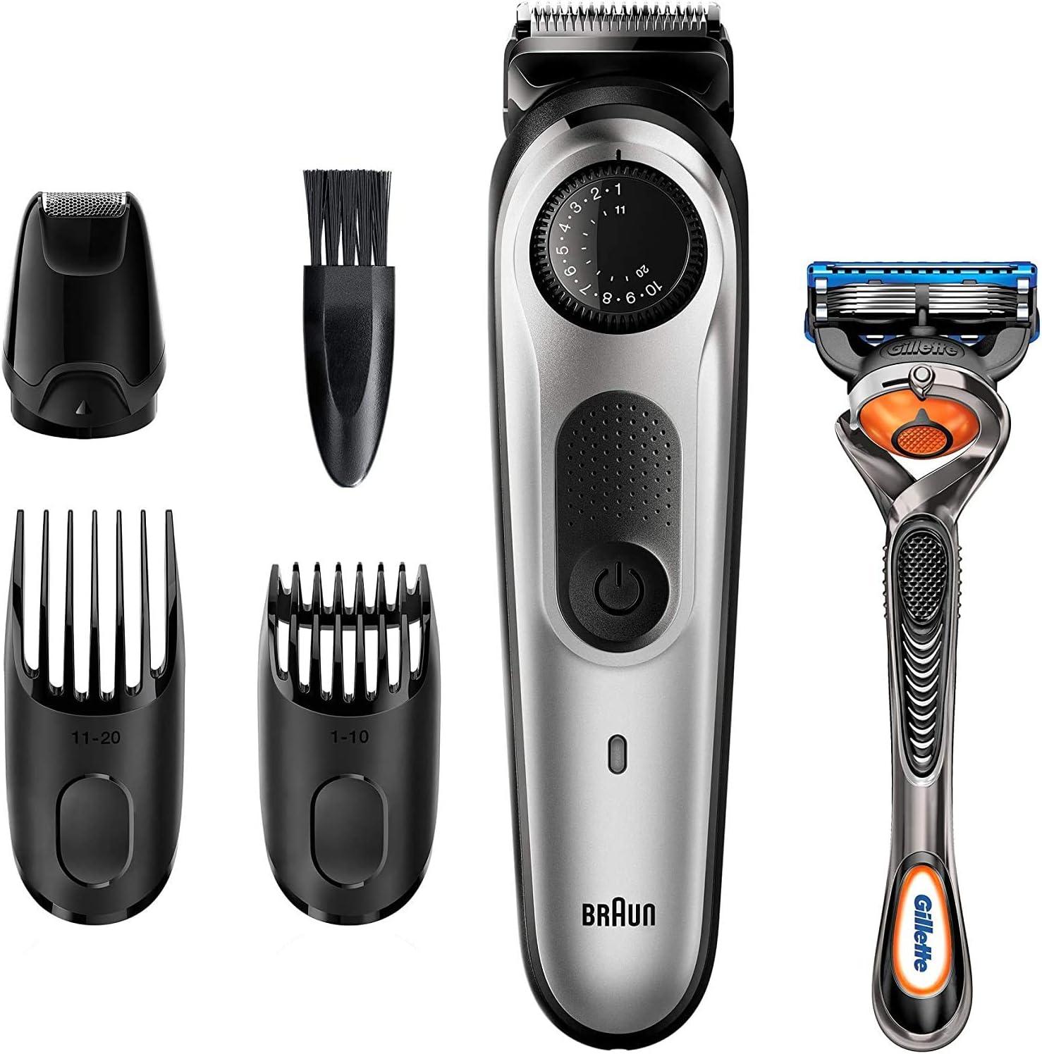 Braun Recortadora de Barba BT5265, Máquina Cortar Pelo, Recortadora de Barba y Cortapelos, para Hombre, 39 Ajustes de Longitud, Color Negro/Metal Plateado: Amazon.es: Salud y cuidado personal