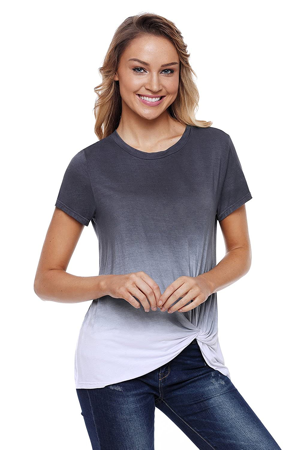 0ba745377 Casual chic to pair with jeans, pants and leggings. Fitted silhouette,  round neck and short sleeves. Specifications Style: Fashion Occasion: Summer