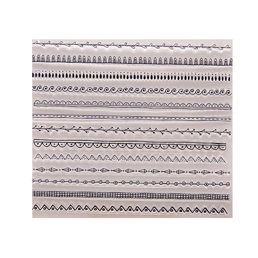 Yevison Clear Silicone Stamp Sheet Printing Scrapbooking Embossing Stamper Transparent Cling Seal for DIY Scrapbook Photo Albums Paper Notebook Card Making Arts Crafts Supplies Lace Pattern Durable and Useful
