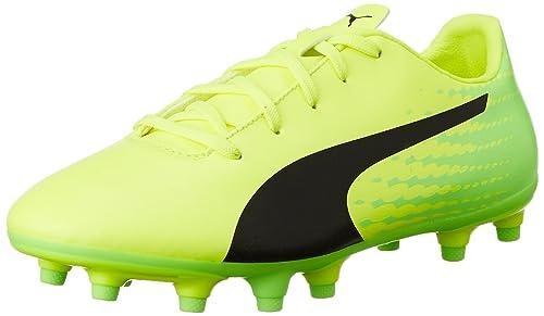 sports shoes 41e46 04d68 Puma Evospeed 17.5 FG Jr, Chaussures de Football Compétition Mixte Enfant,  Jaune (Safety