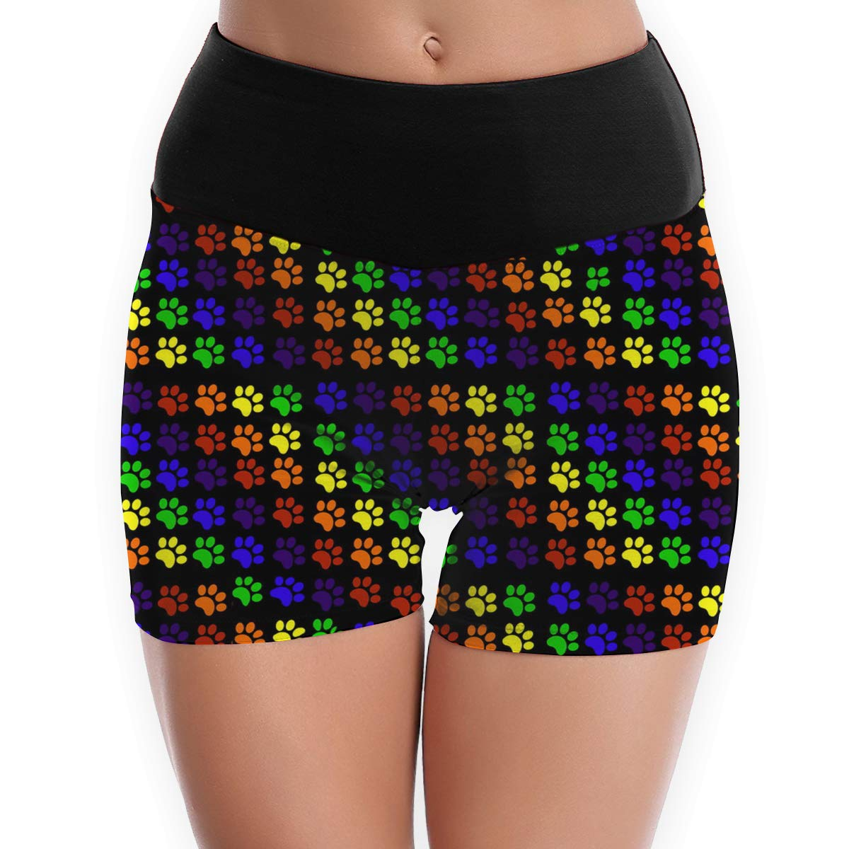 Amazon.com : YJK79R Paws to Reflect Pattern Womens Yoga ...