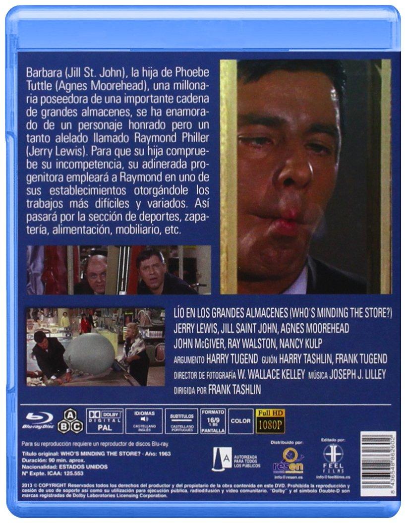 Lío en los grandes almacenes [Blu-ray]: Amazon.es: Jerry Lewis, Jill St, John, Ray Walston, John McGiver, Agnes Moorehead, Francesca Bellini, Frank Tashlin: ...