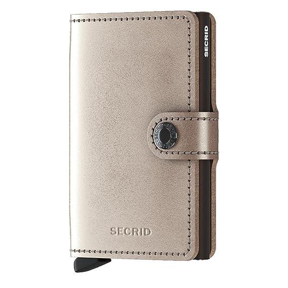 b50a18cf1d6 Secrid Miniwallet Metallic Leather - Champagne-Brown: Amazon.co.uk ...