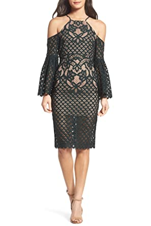 1e7999ee Bardot Womens Lace Open Back Cocktail Dress at Amazon Women's ...
