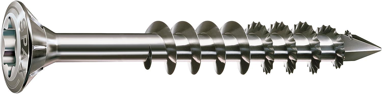 SPAX 1.4567 25170004506021 - Lote de tornillos T-Star plus Cut (rosca parcial, 4,5 x 60 mm, 100 unidades, acero inoxidable)