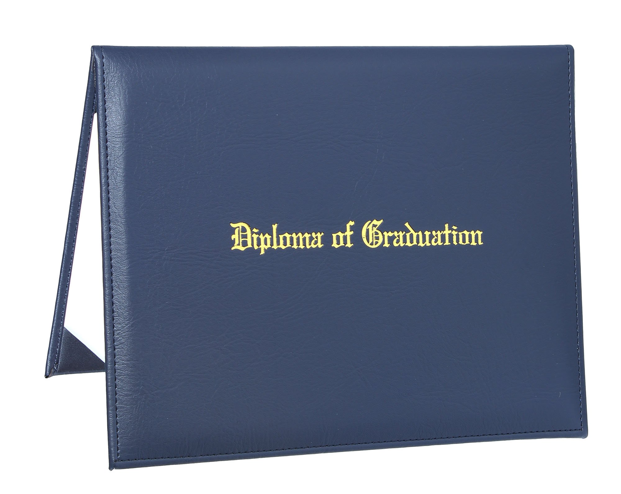 GraduationService PU Diploma Cover Certificate Cover with Gold Imprinted''Diploma of Graduation'' 8 1/2'' x 11''