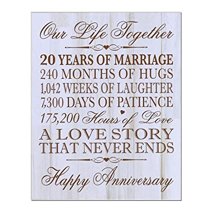 20th wedding anniversary wall plaque gifts for couple her20th wedding anniversary gifts for