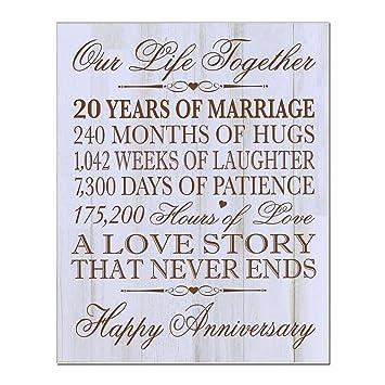 20 Hochzeitstag Geschenk
