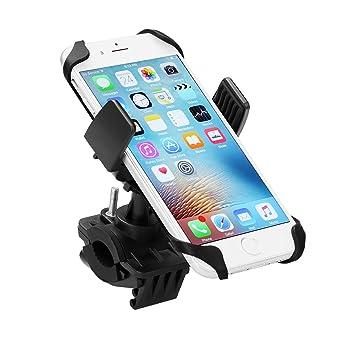 Fahrradhalterung Motorradhalterung Universal f/ür iPhone Samsung Huawei Smartphone GPS Ger/äte ipow Handyhalterung Fahrrad Doppelschutz Handyhalter mit 360 Drehen
