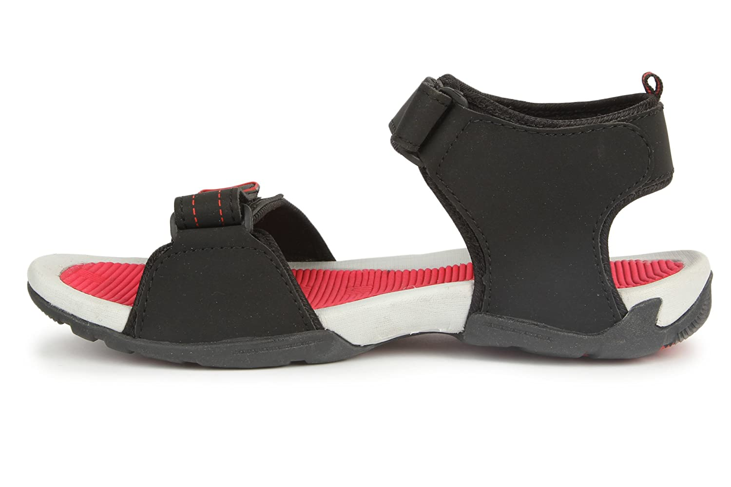 Mmojah Mens Easy-22 Black/Red Sandal -9