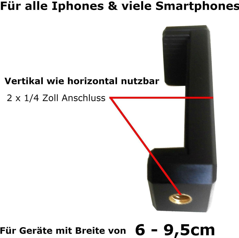 LG Samsung Galaxy S 4 5 6 7 8 Huawei Apple iPhone 4 5 6 7 8 S PLUS Sony Foto Tisch Halterung Flexible Gelenke f/ür Android Handy HTC Eurosell 18cm Premium iPhone Smartphone Stativ Video