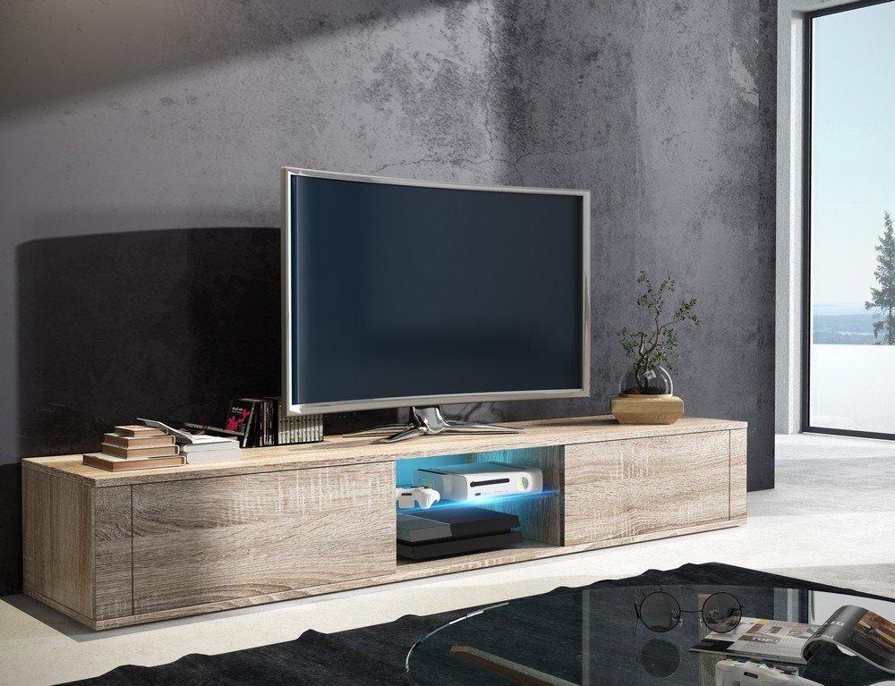 Tv Schrank HIT Tv Niedrigboard Unterschrank Mit LED     (sonoma eiche)