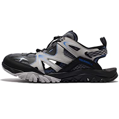 Amazon.com | Merrell Men's Capra Rapid Sieve, GREY/BLACK/BLUE | Hiking Shoes
