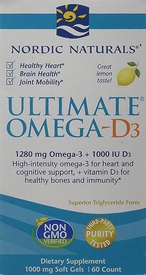 Nordic Naturals Ultimate Omega D3 Capsules Lemon 60 Count Amazon