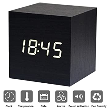 Réveil XAGOO Réveil Matin Horloge Digital Cube avec Activation ...