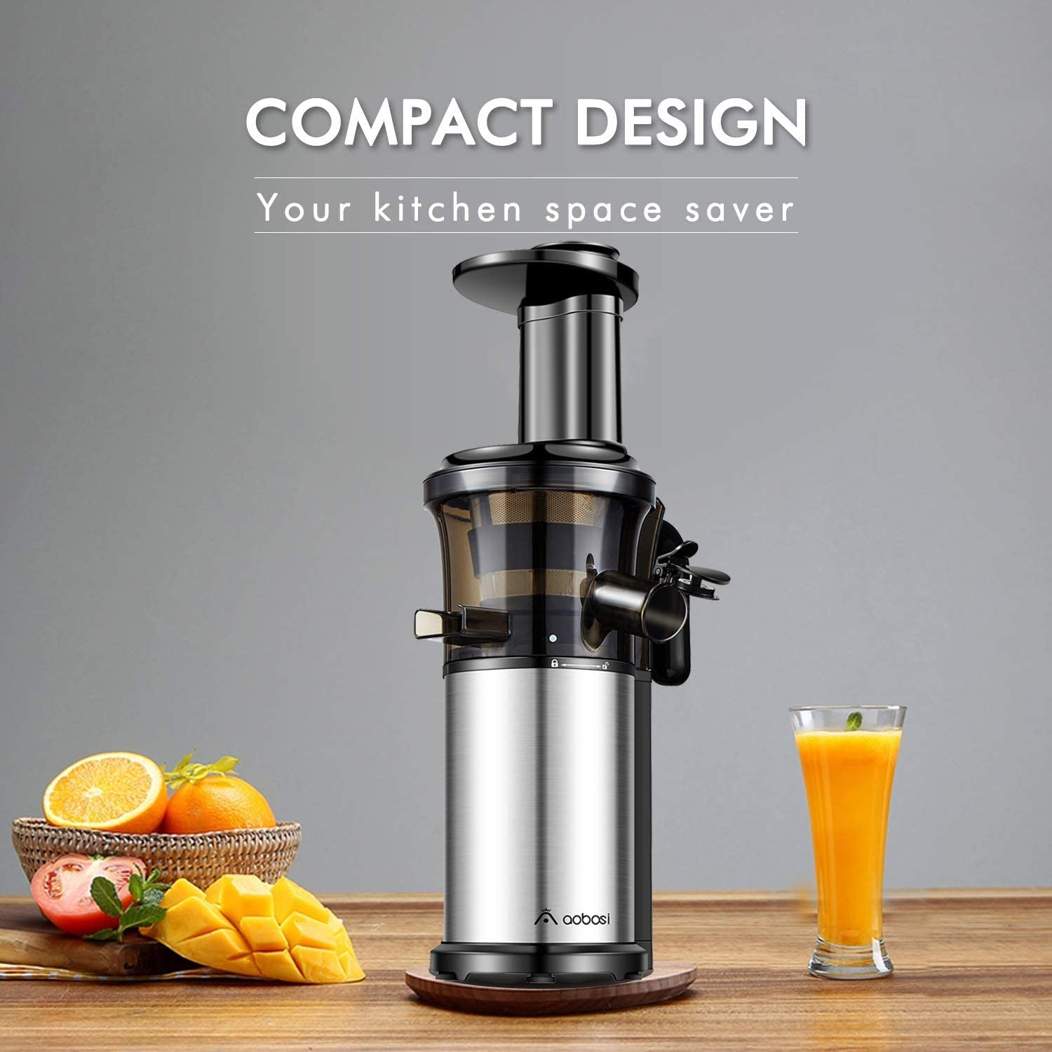 Aobosi Slow Masticating Juicer Extractor Compact Cold Press Juicer ...