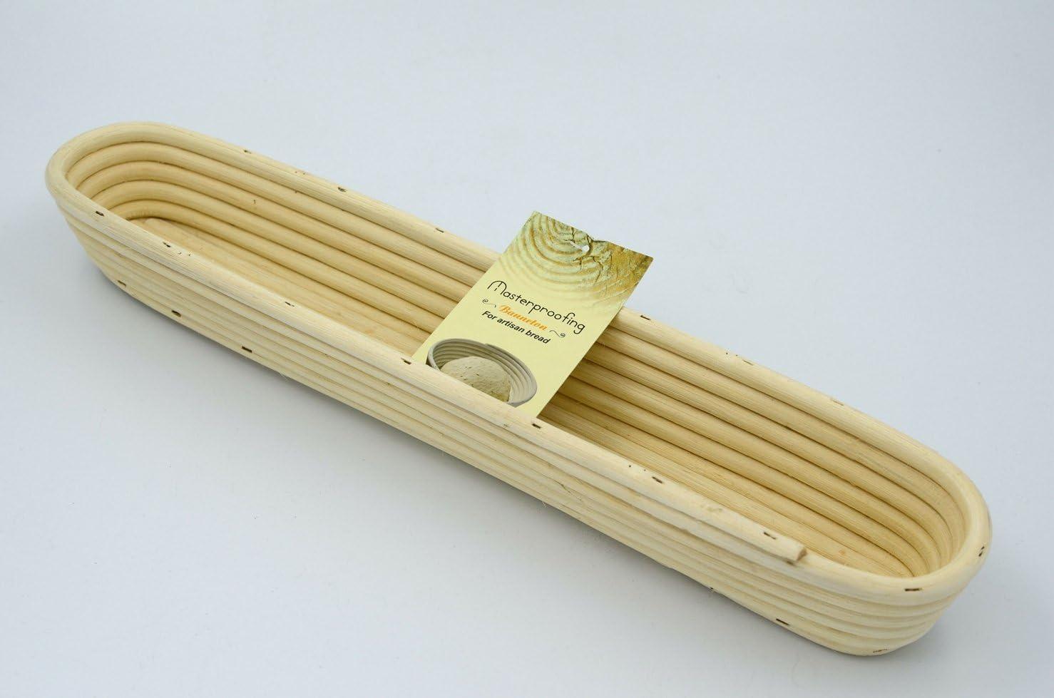 2 Pcs Masterproofing Long Banneton Basket- 44*9*5.5cm by Masterproofing