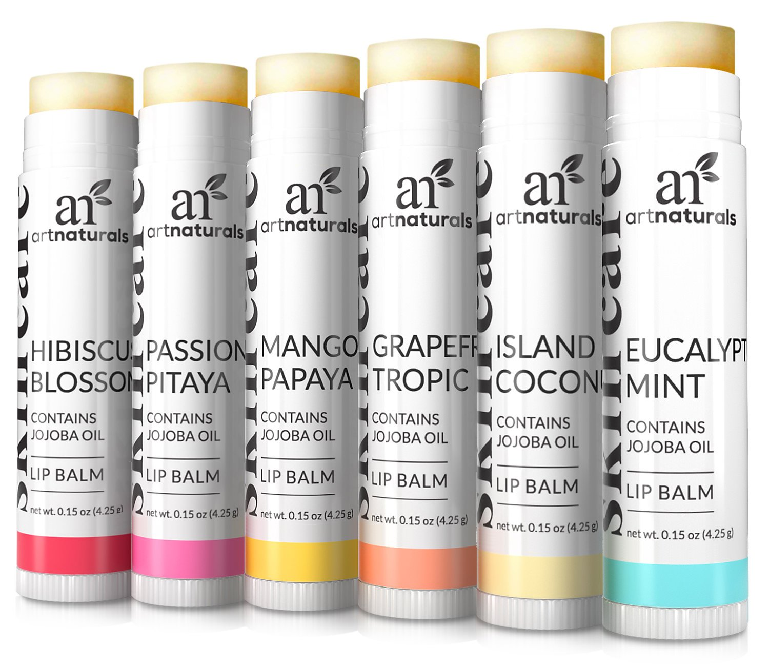 Art Naturals Natural Lip Balm Beeswax, Assorted Flavors by Art Naturals