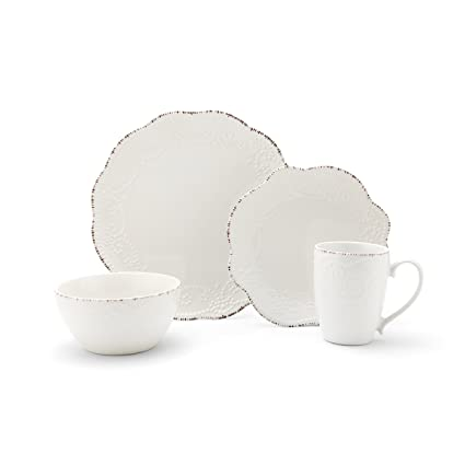 Pfaltzgraff Everly 16-Piece Stoneware Dinnerware Set Service for 4  sc 1 st  Amazon.com & Amazon.com | Pfaltzgraff Everly 16-Piece Stoneware Dinnerware Set ...
