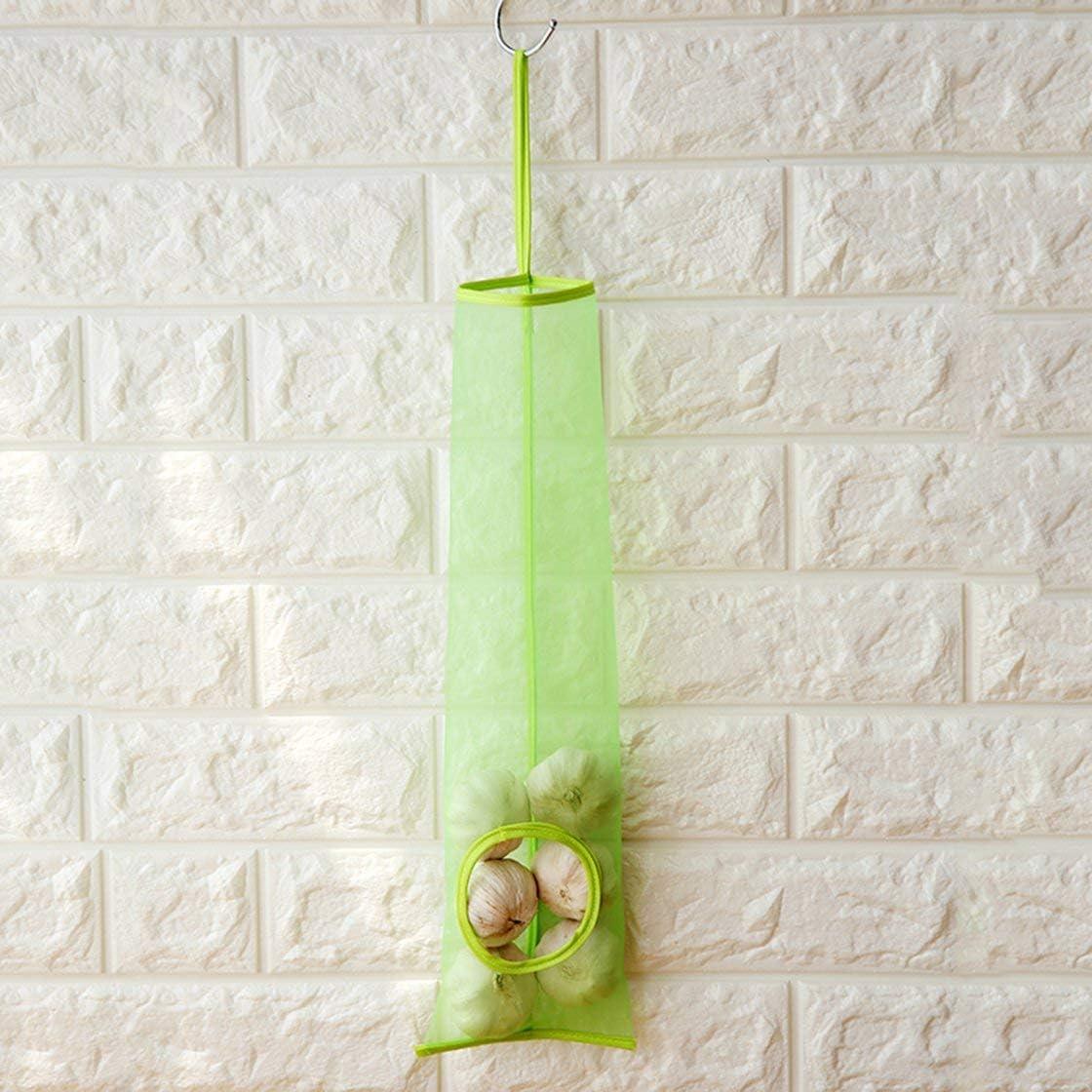 Jessicadaphne Plastic Bag Holder Dispenser Mesh Garbage Hanging Storage Bag for Kitchen
