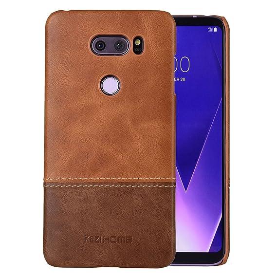 wholesale dealer 94283 c9944 KEZiHOME LG V30 Case,LG V35 Case,Two Colors Vintage Genuine Leather Back  Cover for LG V30, LG V30S,LG V30 Plus,LG V30 ThinQ,LG V35,LG V35 ThinQ  Cases ...