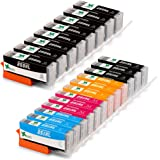EBBO 20-Pack High Yield Compatible Ink Cartridges Replacement for PGI-250XL CLI-251XL, Compatible with PIXMA MX922 MX722 IP7220 IP8720 IX6820 MG7520 MG5520 MG5420 MG6620 MG7120 MG6320 MG5620 Printer