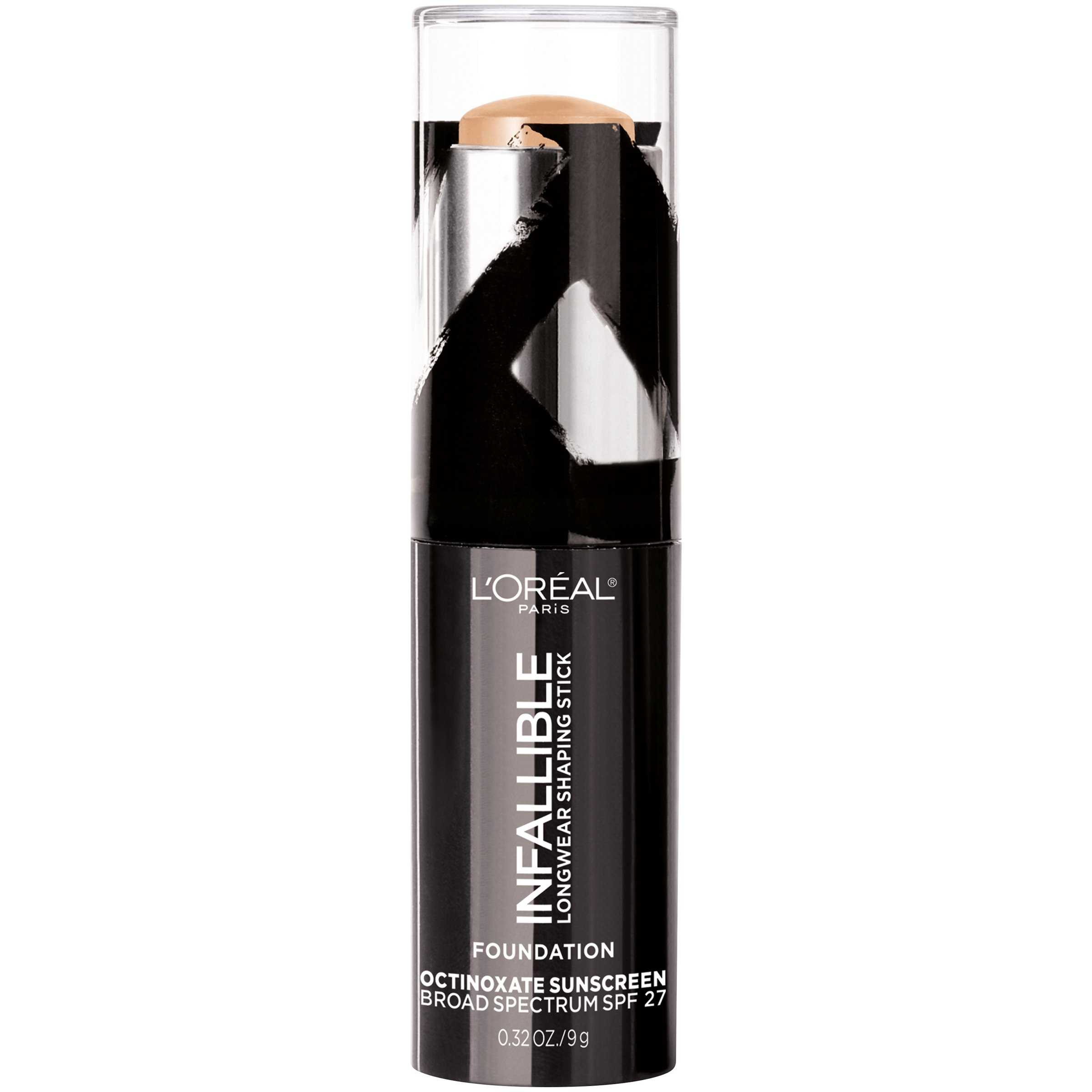 fb1d8be675b1 L'Oreal Paris Makeup Infallible Longwear Foundation Shaping Stick, Up to  24hr Wear, Medium to Full Coverage Cream Foundation Stick, 403 Buff, 0.3 oz.