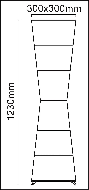 L/ámpara de pie led de dise/ño moderno de papel de arroz para sal/ón con pantalla decorativa Trango