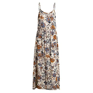 DiDi-Cut vintage summer dress women summer dress hollow out boho floral print maxi dress