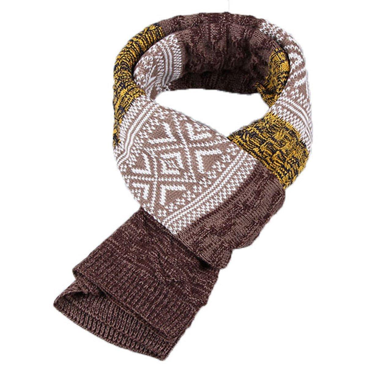 Leisial Uomo Inverno Caldo Lunga Sciarpa Addensare a Strisce Scialle 185*32cm