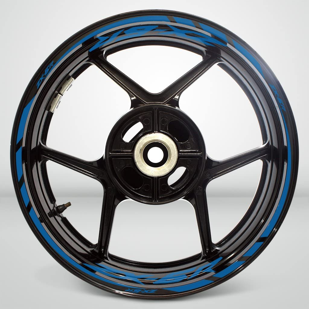 2 Tone Amethyst Motorcycle Rim Wheel Decal Accessory Sticker For Kawasaki ZX6R