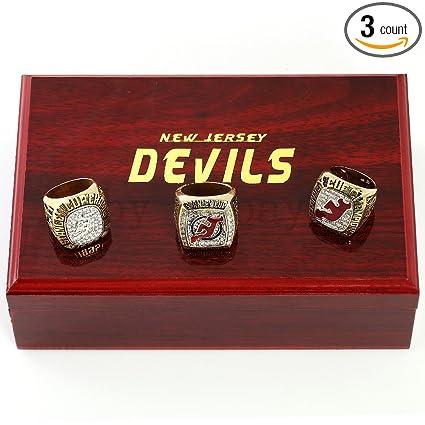 Amazon.com   3pc Jersey Devils Stanley Cup Championship Rings Full ... 8b600b97b