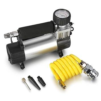Mini compresor de aire eléctrico Madlife Garage para inflar los neumáticos, de 12 V y 150 PSI, modelo profesional y portátil: Amazon.es: Coche y moto
