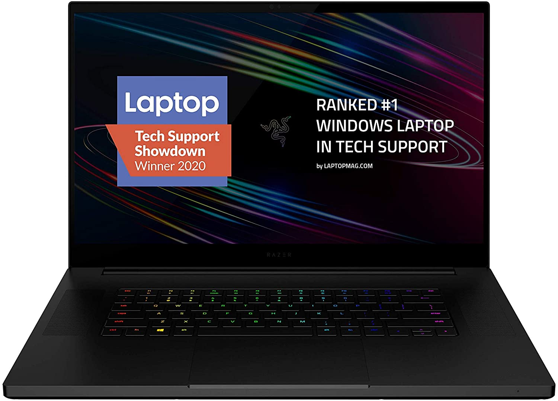 Razer Blade Pro 17 (RZ09-03295E63-R3U1) 17.3″ 4K 120Hz Touch Gaming Laptop, 10th Gen Core i7 8-Core, 16GB RAM, 1TB SSD
