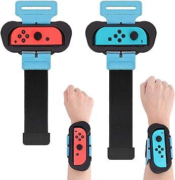 Muñequeras para Just Dance 2020/2019 Compatible con Nintendo Switch, 2 Piezas Correa de Muñeca Elástica Ajustable para Joy con Controller, Dos Tamaños para Adultos y Niños: Amazon.es: Electrónica