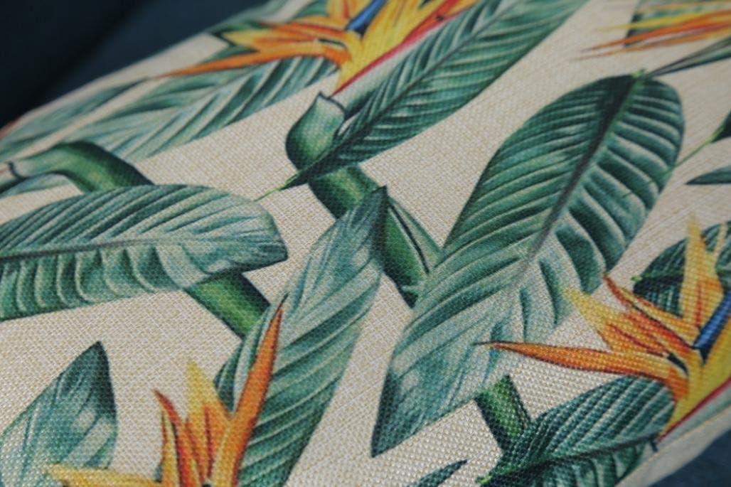 Coton a hypoallerg/énique Erthome Housse de coussin feuilles vertes Alternativement Parure de lit D/écoration Festival de taie doreiller lavable en machine 30cm x 50cm antibact/érien 30/cm x 50/cm