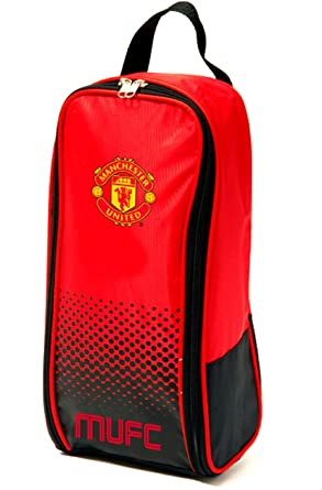 a1b159e741 Manchester United FC Football Team Boot Shoe Zip Bag with Handle   Amazon.co.uk  Shoes   Bags