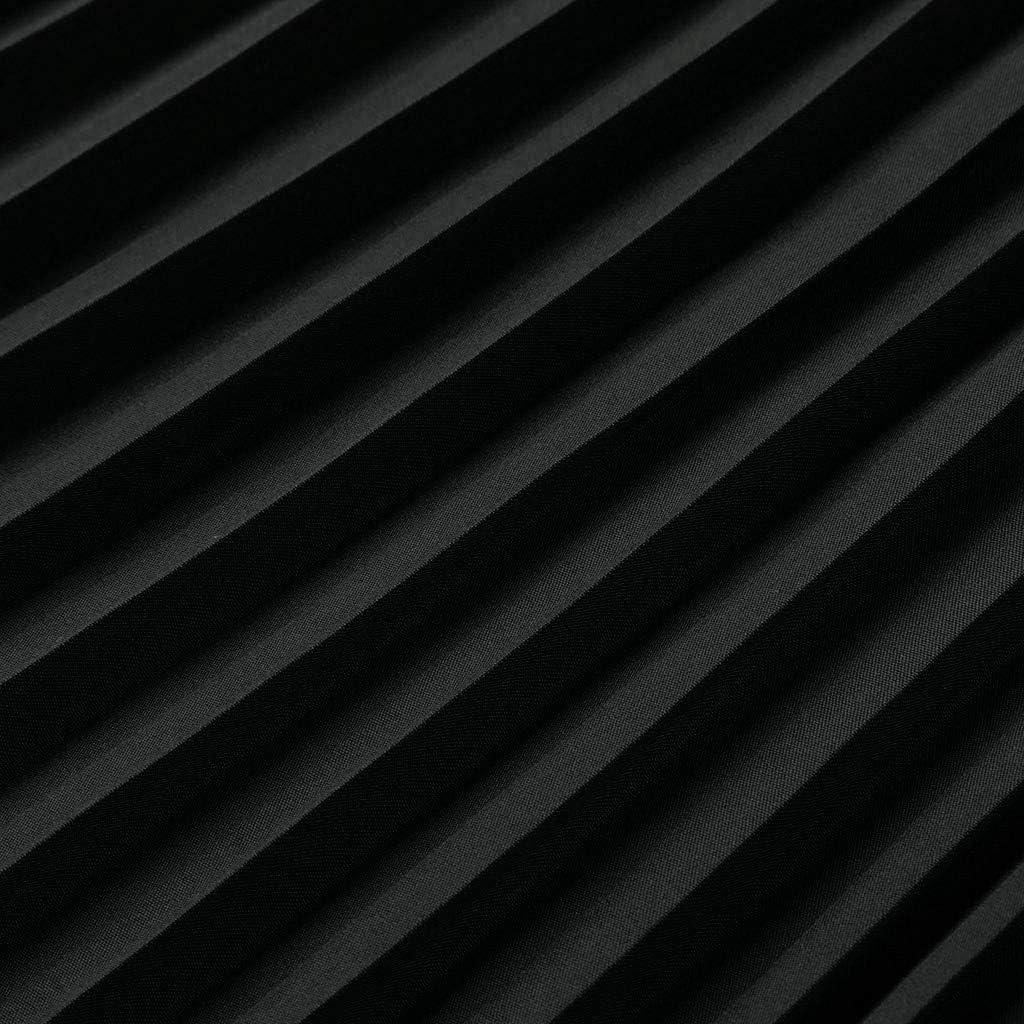 Fenverk Vintage Damen Maxirock Elastische Bund Rock Faltenrock Strandkleid Festlich Freizeit Langrock Plissee Retro Unifarben Sommerrock Strand Frauen Lange Maxi B/öHmischen Stil