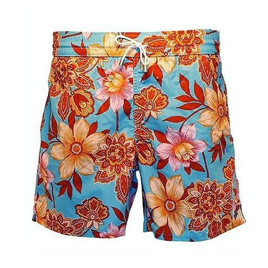 fd33148378 Bayahibe Men's Swimwear Shorts Quick Dry French Handmade Printed Swim Trunk    Amazon.com