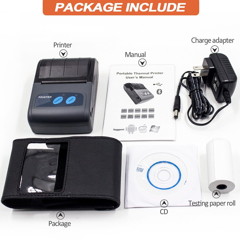 Portable Bluetooth USB Mini Thermal Printer Receipt Ticket
