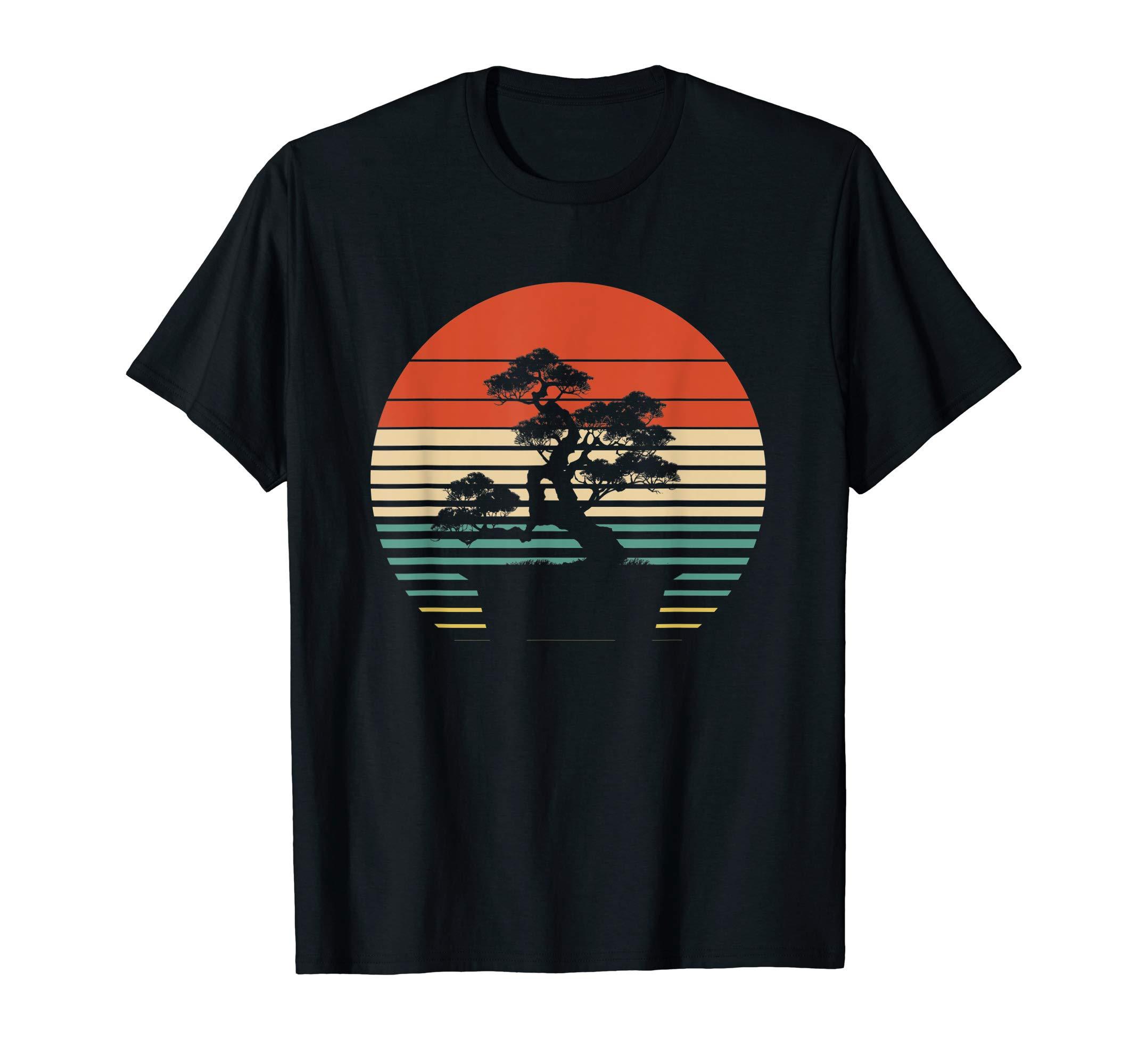 Bonsai Tree Design, Japanese Bonsai Tree Sun T-Shirt